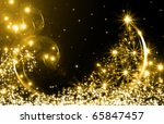 the best christmas golden tree... | Shutterstock . vector #65847457