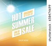 hot summer sale special offer...   Shutterstock .eps vector #658474699