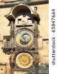ancient astronomical clock in... | Shutterstock . vector #65847664