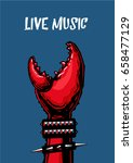Live Music Poster With Crab...