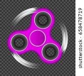 anti stress toy hand spinner on ... | Shutterstock .eps vector #658478719