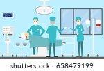 plastic surgery clinic | Shutterstock .eps vector #658479199