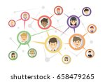 social communication concept. | Shutterstock .eps vector #658479265