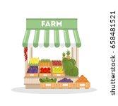 isolated farm shop. | Shutterstock .eps vector #658481521
