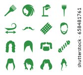 hairstyle icons set. set of 16... | Shutterstock .eps vector #658481761
