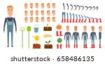 farmer character creation set.... | Shutterstock .eps vector #658486135