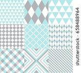 set of geometric patterns   Shutterstock .eps vector #658488964