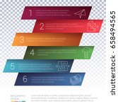 vector infographics layout step ... | Shutterstock .eps vector #658494565