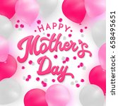 happy mothers day card with 3d... | Shutterstock . vector #658495651
