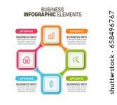 modern infographics paper...   Shutterstock .eps vector #658496767