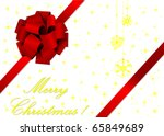 christmas illustration of a red ... | Shutterstock .eps vector #65849689