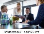 blurred business background... | Shutterstock . vector #658498495