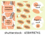 set of labels for organic... | Shutterstock .eps vector #658498741