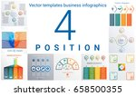 set colorful templates for... | Shutterstock .eps vector #658500355
