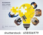 concepts for business teamwork... | Shutterstock .eps vector #658506979
