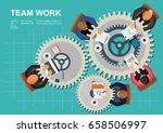 concepts for business teamwork... | Shutterstock .eps vector #658506997