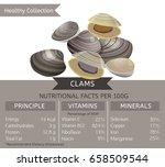 clams health benefits. vector...   Shutterstock .eps vector #658509544