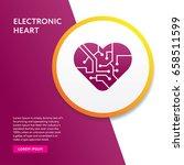 electronic heart icon. info... | Shutterstock .eps vector #658511599