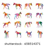 set of mosaic vector colorful... | Shutterstock .eps vector #658514371