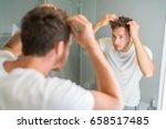 Hair Loss Man Looking In...