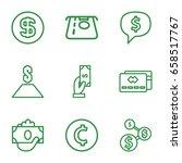 cash icons set. set of 9 cash... | Shutterstock .eps vector #658517767