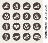 charity icon set   Shutterstock .eps vector #658519021