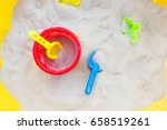 plastic bucket  sifter and a... | Shutterstock . vector #658519261