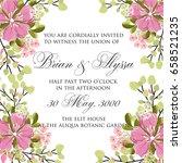 hibiscus floral wedding... | Shutterstock .eps vector #658521235
