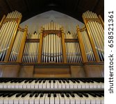 Pipe Organ With Keyboards In...
