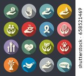charity icons | Shutterstock .eps vector #658521469