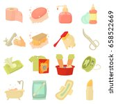 hygiene cleaning icons set.... | Shutterstock .eps vector #658522669