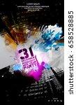 music event poster. easy... | Shutterstock .eps vector #658528885
