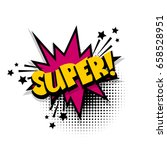 lettering good  ok. comic book... | Shutterstock .eps vector #658528951