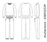 men's track suit. blank vector... | Shutterstock .eps vector #658532539