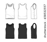 men's clothing set in white and ... | Shutterstock .eps vector #658532557