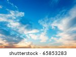 sunset sky | Shutterstock . vector #65853283