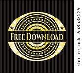 free download gold shiny emblem