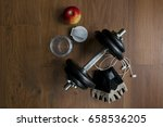 accessories for fitness in... | Shutterstock . vector #658536205