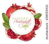 vector round banner with... | Shutterstock .eps vector #658553431