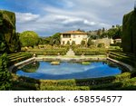 villa gamberaia with a lake and ... | Shutterstock . vector #658554577