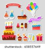 celebration happy birthday... | Shutterstock .eps vector #658557649