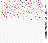 many falling colorful confetti... | Shutterstock .eps vector #658558894