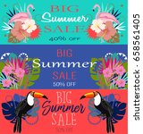 summer sale banners | Shutterstock .eps vector #658561405
