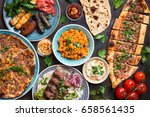 traditional assorted turkish... | Shutterstock . vector #658561435