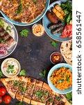 traditional assorted turkish... | Shutterstock . vector #658561447