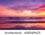 beautiful sunset sky over sea | Shutterstock . vector #658569625