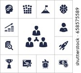 set of 13 business icons set... | Shutterstock .eps vector #658575589