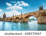 Charles Bridge  Prague  Czech...