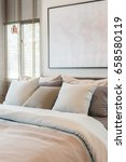 king bed size with set of... | Shutterstock . vector #658580119