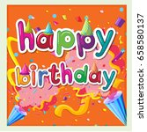card template for birthday with ... | Shutterstock .eps vector #658580137